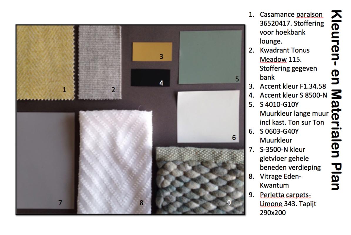kleuren en materialen plan